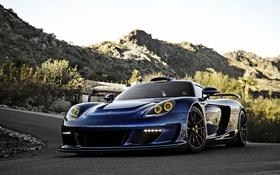 Обои Porsche, порше, синяя, Gemballa, Carrera, Mirage, гембалла