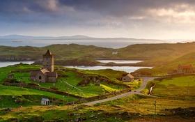 Картинка природа, Шотландия, остров Гаррис, Родел, древняя церковь