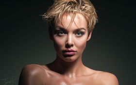Обои Jack Russell, the face, Rosie Robinson, bangs, makeup, portrait, чёлка