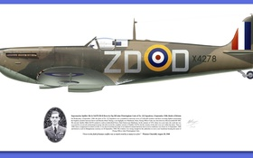 Обои military, photo, portrait, spitfire mk vb