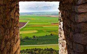 Обои поле, проем, Испания, Вальядолид