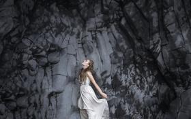 Картинка девушка, платье, профиль