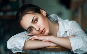 Картинка девушка, лицо, милая, модель, портрет, макияж, light
