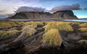 Обои Vestrahorn Dunes, iceland, beach