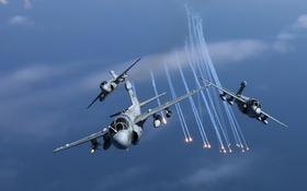 Обои полёт, самолёт, Prowler, палубный, EA-6B