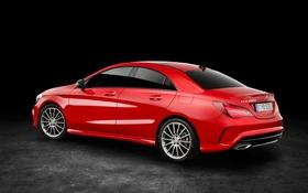 Обои красный, фон, Mercedes-Benz, мерседес, AMG, C117, CLA-Class