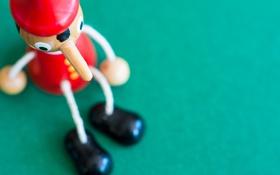 Обои Pinocchio, игрушка, фон