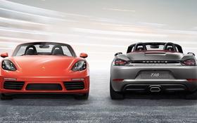 Обои Porsche, родстер, порше, Boxster, бокстер, 718
