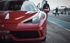 Обои Ferrari, классика, 458, передок
