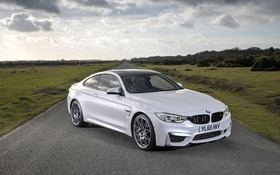 Обои White, BMW M4, Competition Package, 2016