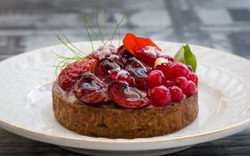 Обои ягоды, пирожное, десерт, желе