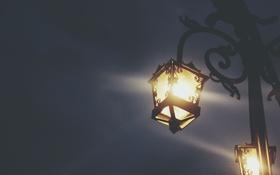 Обои свет, улица, фонарь