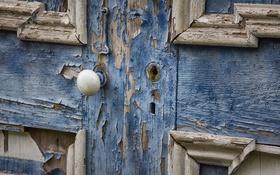 Обои дверь, фон, замок