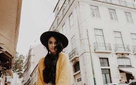 Картинка девушка, улица, звезда, шляпа, актриса, vanessa hudgens