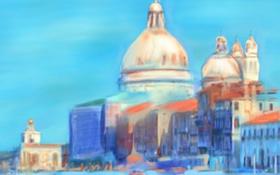 Обои пейзаж, картина, Италия, Венеция, собор