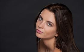Картинка взгляд, лицо, модель, волосы, брюнетка, anastasia, monika benz