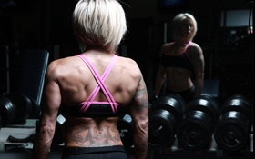 Картинка blonde, back, fitness, bodybuilder