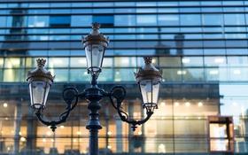 Обои макро, Франция, здание, фонарь, France, Lyon, Лион