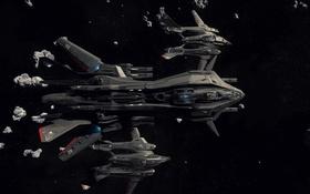 Обои космос, звезды, полет, корабль, Star Citizen, Retaliator