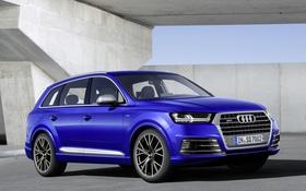 Обои синий, Audi, ауди, кроссовер