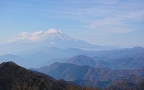 Обои небо, горы, холмы, гора