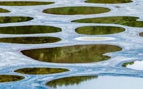 Обои озеро, Канада, Британская Колумбия, Клилук, Споттед-Лейк, Осуюс