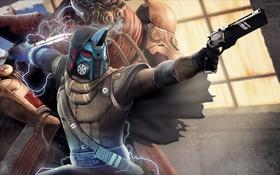 Обои destiny, меч, револьвер, hunter, bladedancer