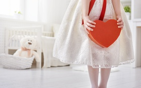 Обои любовь, сердце, girl, love, heart, romantic