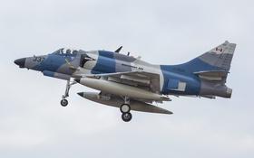 Обои полет, штурмовик, палубный, лёгкий, Skyhawk, Douglas A-4