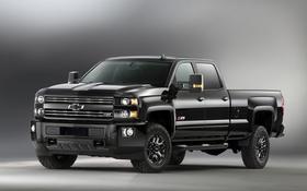 Картинка черный, Chevrolet, шевроле, Silverado, сильверадо