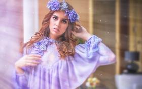 Картинка стиль, модель, платье, венок, Rocio Benitez