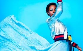 Картинка модель, красота, платье, актриса, черная, Lupita Nyong'o