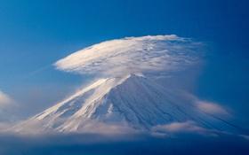 Обои облака, гора, вулкан, Япония, Fuji