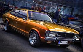Обои оранжевый, ретро, hdr, форд, FORD CONSUL V6 FLIK FLAK