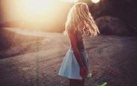 Картинка девушка, солнце, юбка