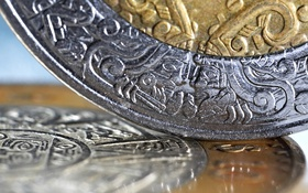 Обои silver, metal, gold, currency