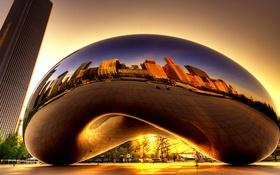 Обои Облачные врата, Аниш Капур, скульптура, США, Чикаго