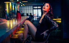 Картинка Legs, Black, Beauty, Lips, Dress, Bar, Comfort