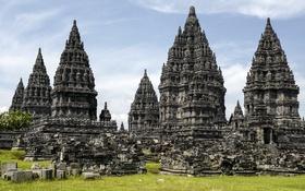 Обои Храмовый комплекс, Прамбанан, Indonesia, Индонезия