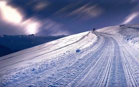 Картинка зима, снег, горы