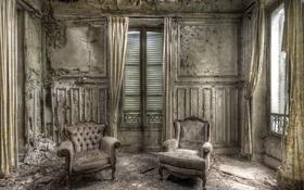 Обои комната, фон, кресла