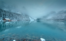 Обои Early Morning, Lake Louise, Light