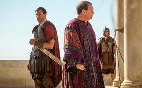 Обои меч, Risen, Clavius, Joseph Fiennes, Воскресение Христа, Peter Firth, Pilate