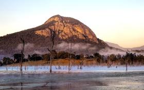 Обои mountain, Morning, Lake Moogerah