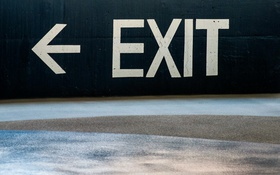 Обои знак, выход, Exit