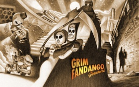 Обои adventure games, Grim Fandango, remastered, scythe