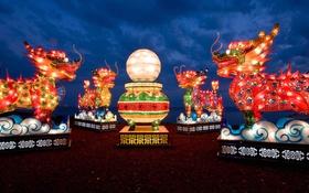 Обои Канада, Онтарио, Торонто, Китайский Фестиваль фонарей