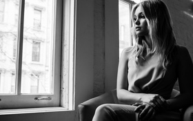 Картинка девушка, черно-белое, Оливия Холт, Olivia Holt