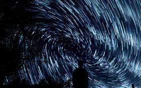 Картинка небо, звезды, ночь, спираль, United States, photo, плеяда