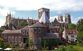 Обои дизайн, замок, вид, Англия, York